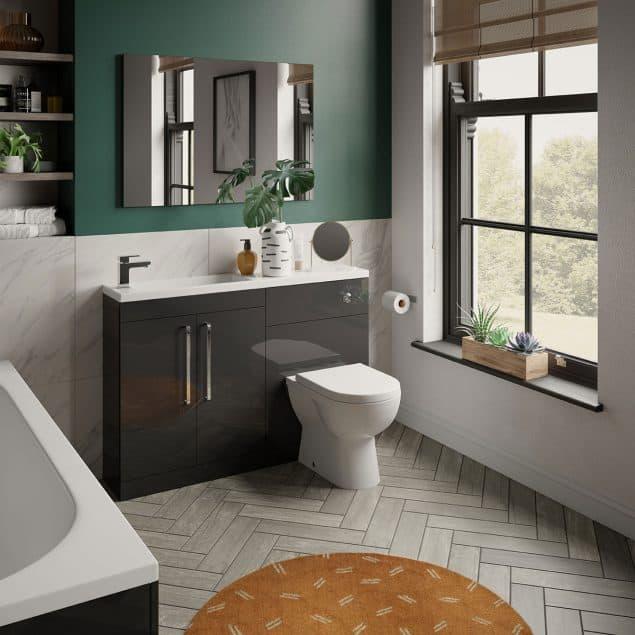 dark grey gloss esprit bathroom