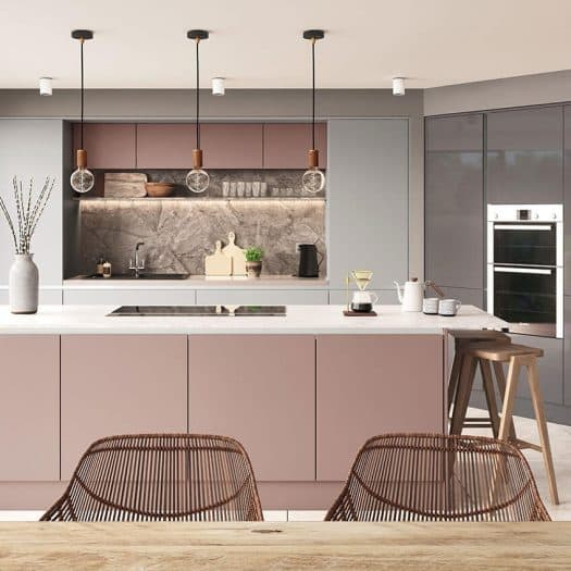Espirit Dusty Pink Super Matt Kitchen doors
