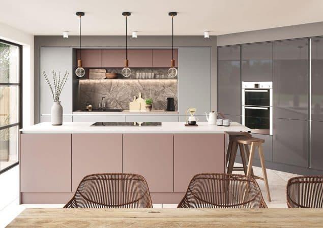 Espirit Dusty Pink Super Matt Kitchen doors