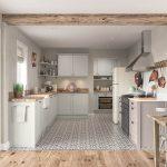 Dawson Porcelain and Cashmere Kitchen